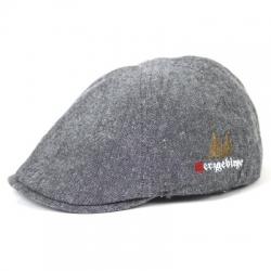 Mütze Herzgebirge graumeliert