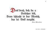 Leinwand -Denk dra-